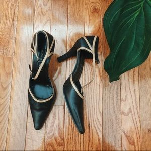 Jennifer Moore Pointed Toe Buckled Heels